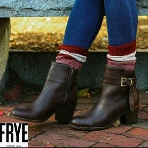 The Frye  Malorie Knotted Short boot Dark Brown 10